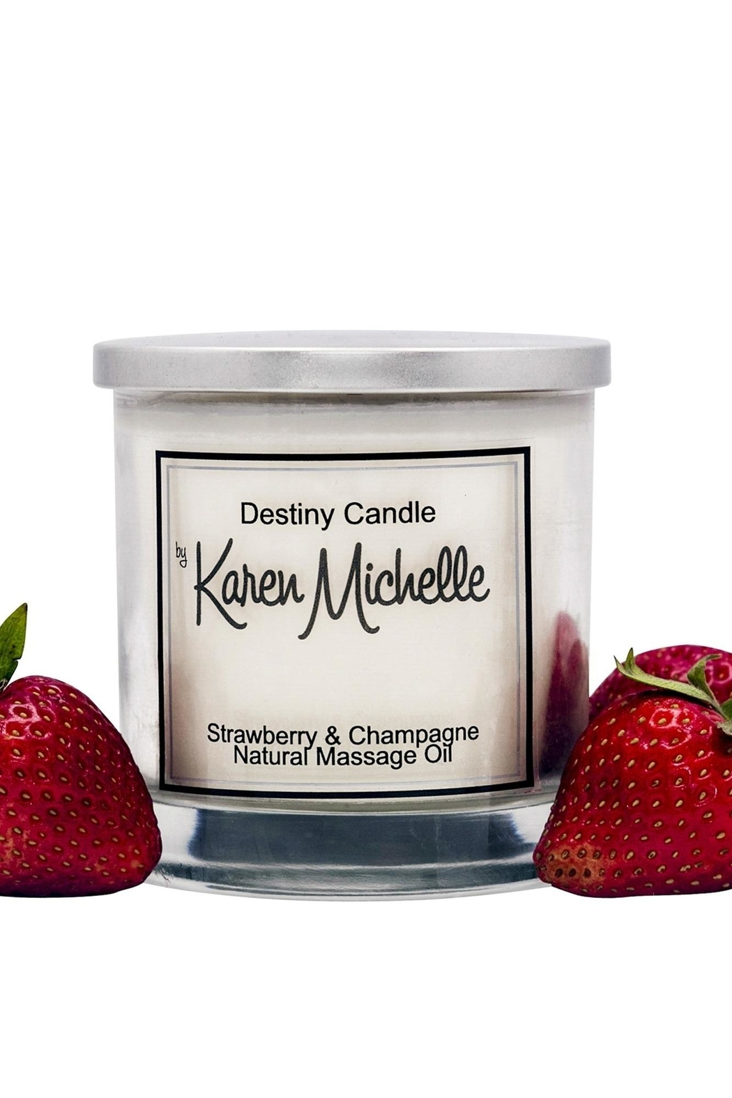 Destiny Candle by Karen Michelle Strawberry Champagne - Main Image