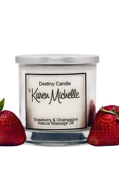 Destiny Candle by Karen Michelle Strawberry Champagne - Product List Image