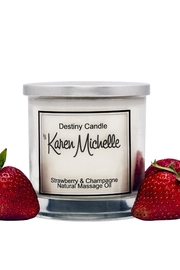 Destiny Candle by Karen Michelle Strawberry Champagne - Product Mini Image