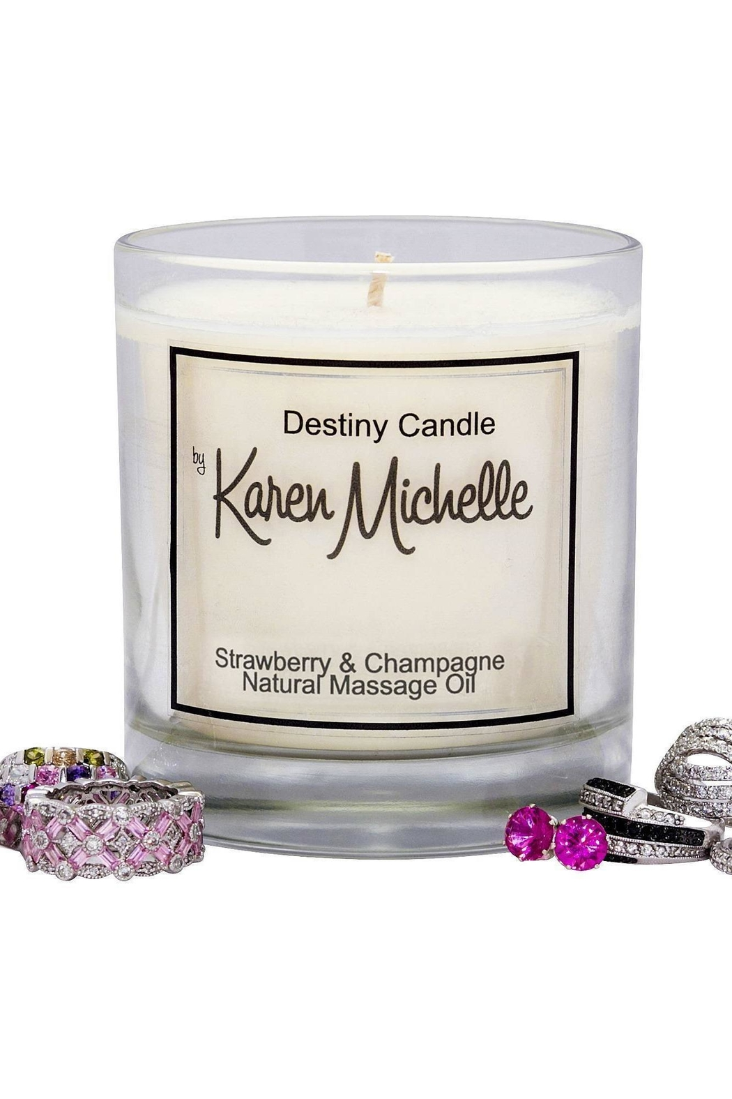 Destiny Candle by Karen Michelle Strawberry Champagne - Side Cropped Image