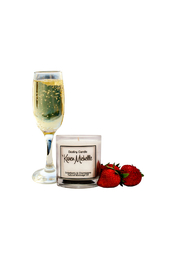 Destiny Candle by Karen Michelle Strawberry Champagne Massage Oil Candle - Product Mini Image