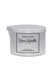 Destiny Candle by Karen Michelle Unscented Massage Oil Candle - Product Mini Image