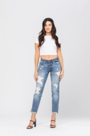 Judy Blue Destroyed Boyfriend Jeans - Front cropped