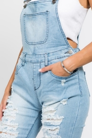 American Bazi Destroyed Denim Jumpsuit - Back cropped