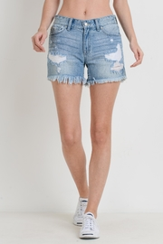 Just USA Destroyed Denim Shorts - Product Mini Image