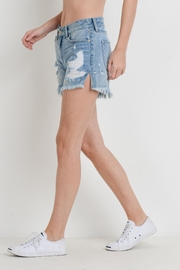 Just USA Destroyed Denim Shorts - Front full body