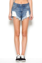 Hidden Jeans Destroyed Denim Shorts - Product Mini Image