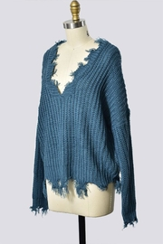 Trend Shop Destroyed Detail Sweater - Side cropped