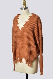 Trend Shop Destroyed Detail Sweater - Front full body