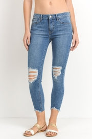 Just Black Denim Destroyed Hem Crop - Product Mini Image