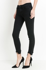 just black Destroyed Hem Jeans - Product Mini Image