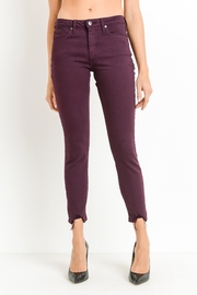 just black Destroyed Hem Skinnies - Front cropped