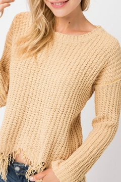 Cozy Casual Destroyed Hem Sweater - Product List Image