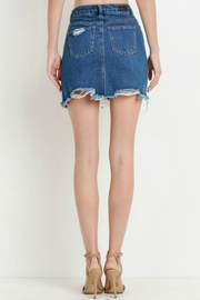 Black Label Destroyed Mini Skirt - Front full body