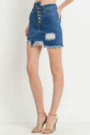 Black Label Destroyed Mini Skirt - Side cropped