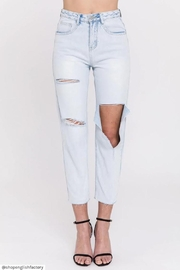 English Factory Destroyed Mom Jeans - Product Mini Image