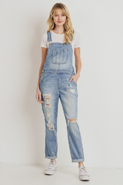 Cest Toi Boyfriend Destroyed Overalls - Product Mini Image