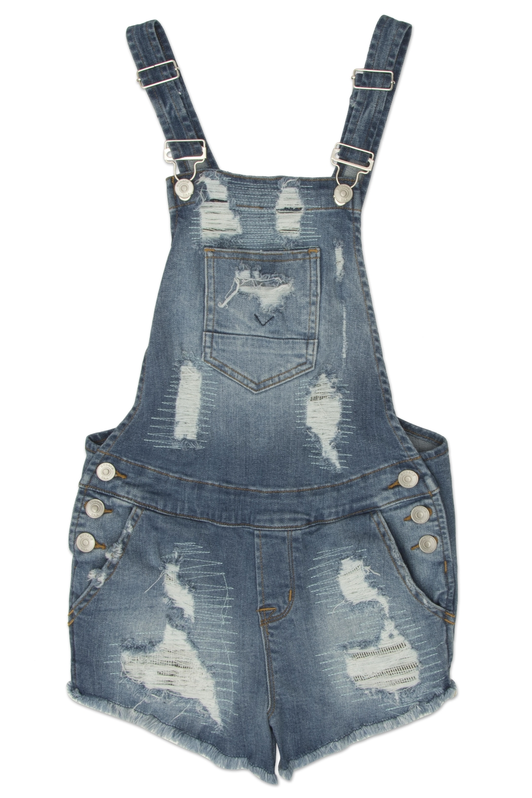 Hudson Jeans Destroyed Shortall - Main Image