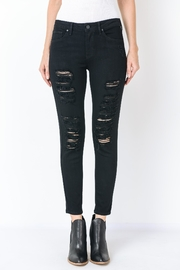 just black Destroyed Skinny Jean - Product Mini Image