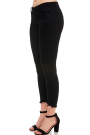 just black Destroyed Skinny Jeans - Front full body