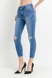 just black Destroyed Skinny-Jeans, Medium - Product Mini Image