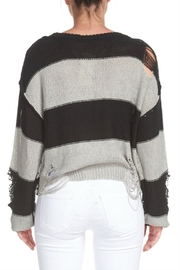 Elan Destroyed Striped Sweater - Side cropped