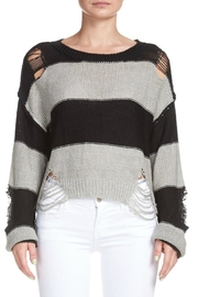Elan Destroyed Striped Sweater - Front full body