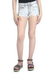 Tractr Destructed Gray Shorts - Product Mini Image
