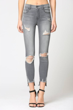 Hidden Jeans Destructed Step Hem Skinny Jeans - Product List Image