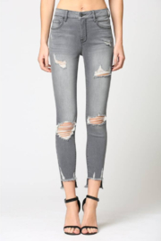 Hidden Jeans Destructed Step Hem Skinny Jeans - Product Mini Image
