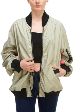 Shoptiques Product: Detail-Sleeve Bomber Jacket