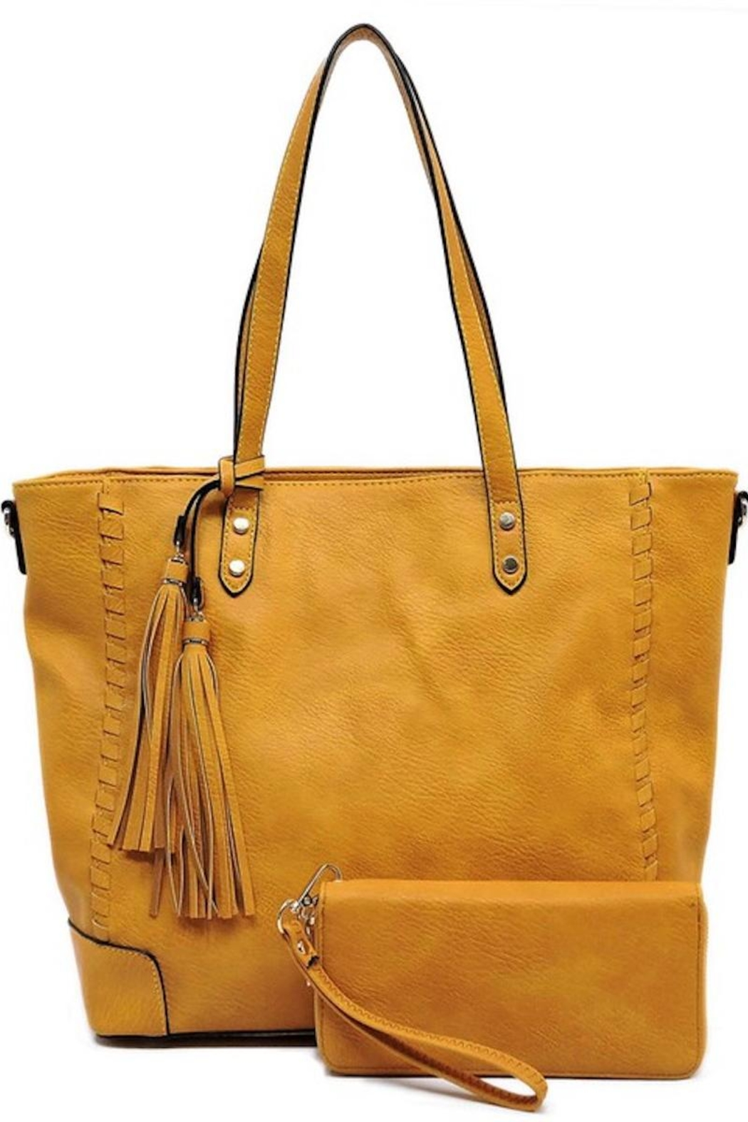 Fashion Tote Detailed Tote Handbag - Front Cropped Image