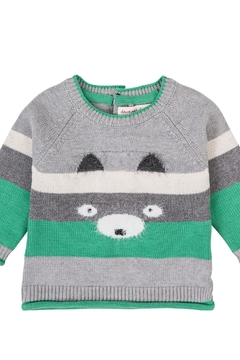 Deux Par Deux Bear Knit Sweater - Alternate List Image