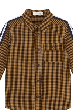 Deux Par Deux Plaid Stripe Shirt - Product List Image