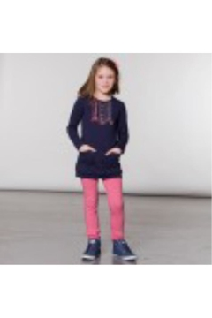Shoptiques Product: Pink Ruffle Leggings