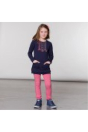 Deux Par Deux Pink Ruffle Leggings - Product Mini Image
