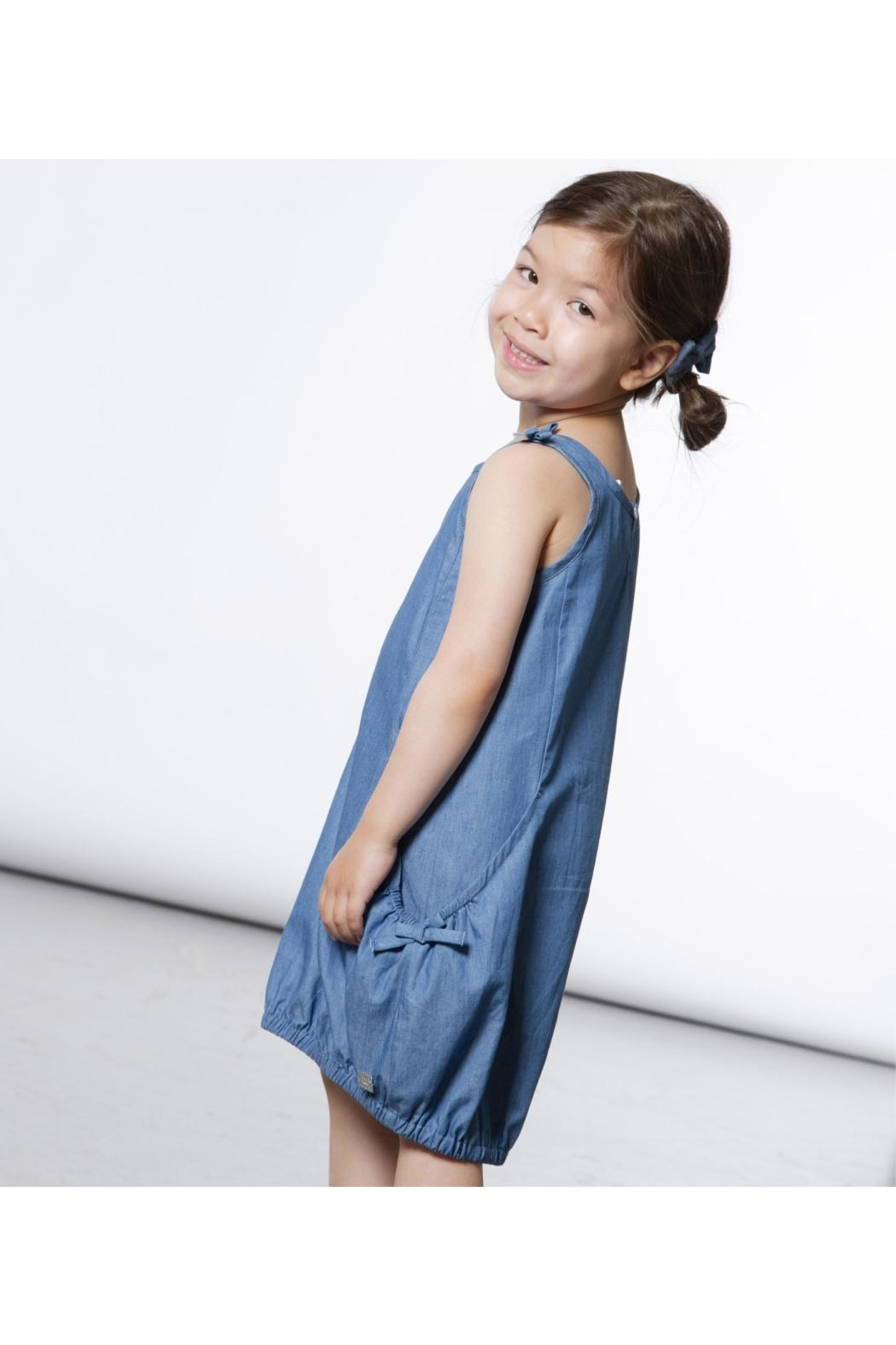Deux Par Deux Denim Bubble Dress - Front Full Image
