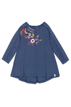 Deux Par Deux Embroidered Blue Tunic - Product List Image