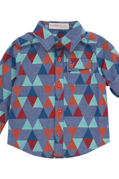 Deux Par Deux Geometric Print Shirt - Alternate List Image
