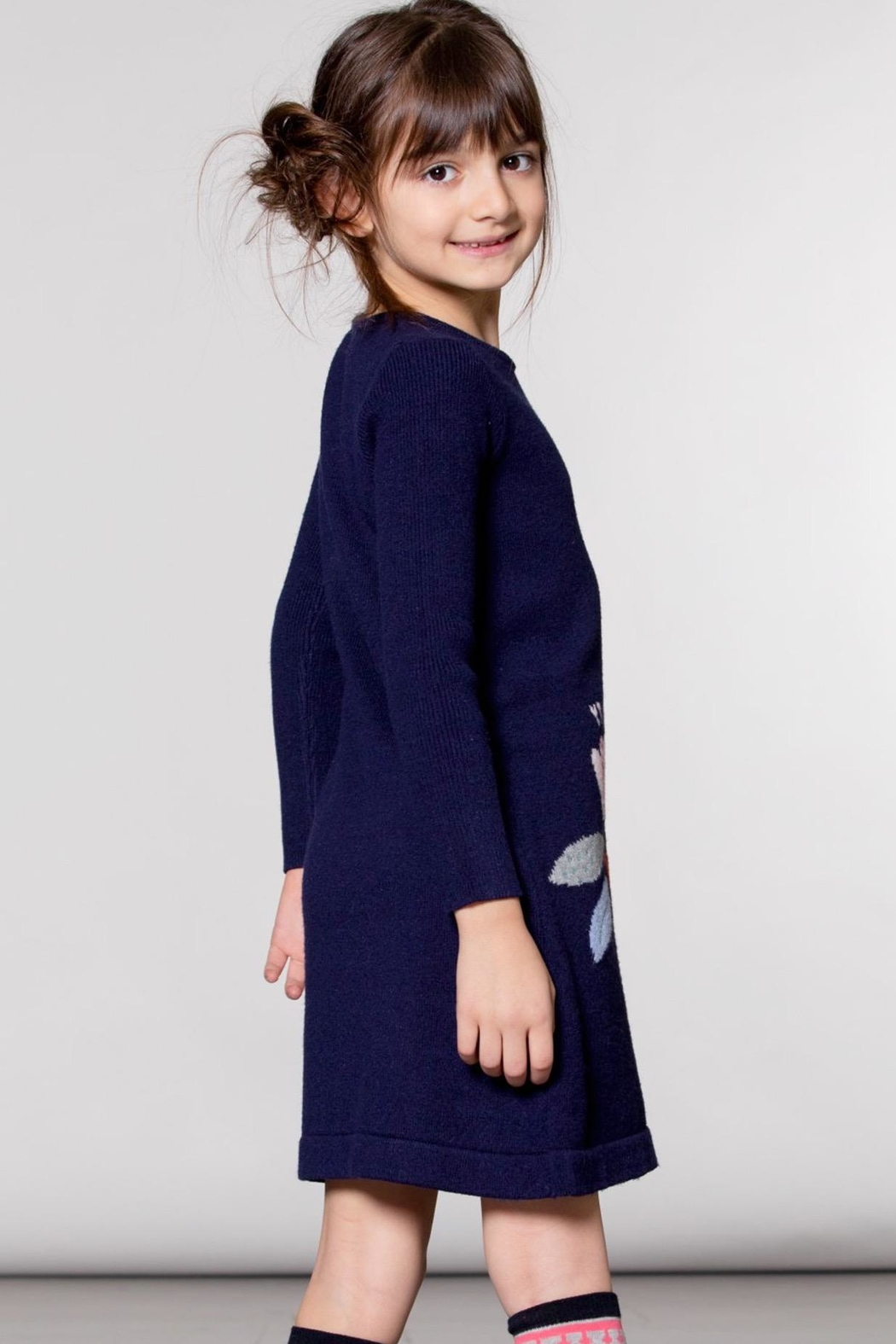 Deux Par Deux Girls Sweater Dress - Side Cropped Image