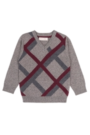 Deux Par Deux Grey Plaid Sweater - Product Mini Image