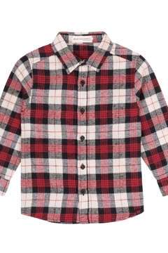 Deux Par Deux Plaid Flanel Shirt - Alternate List Image
