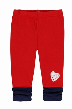 Shoptiques Product: Crocheted Red Leggings