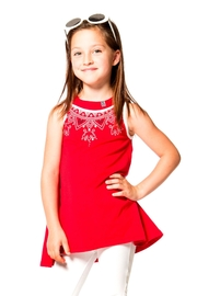 Deux Par Deux Red Sleeveless Tunic - Product Mini Image