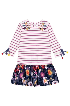 Deux Par Deux Stripe Print Dress - Product List Image