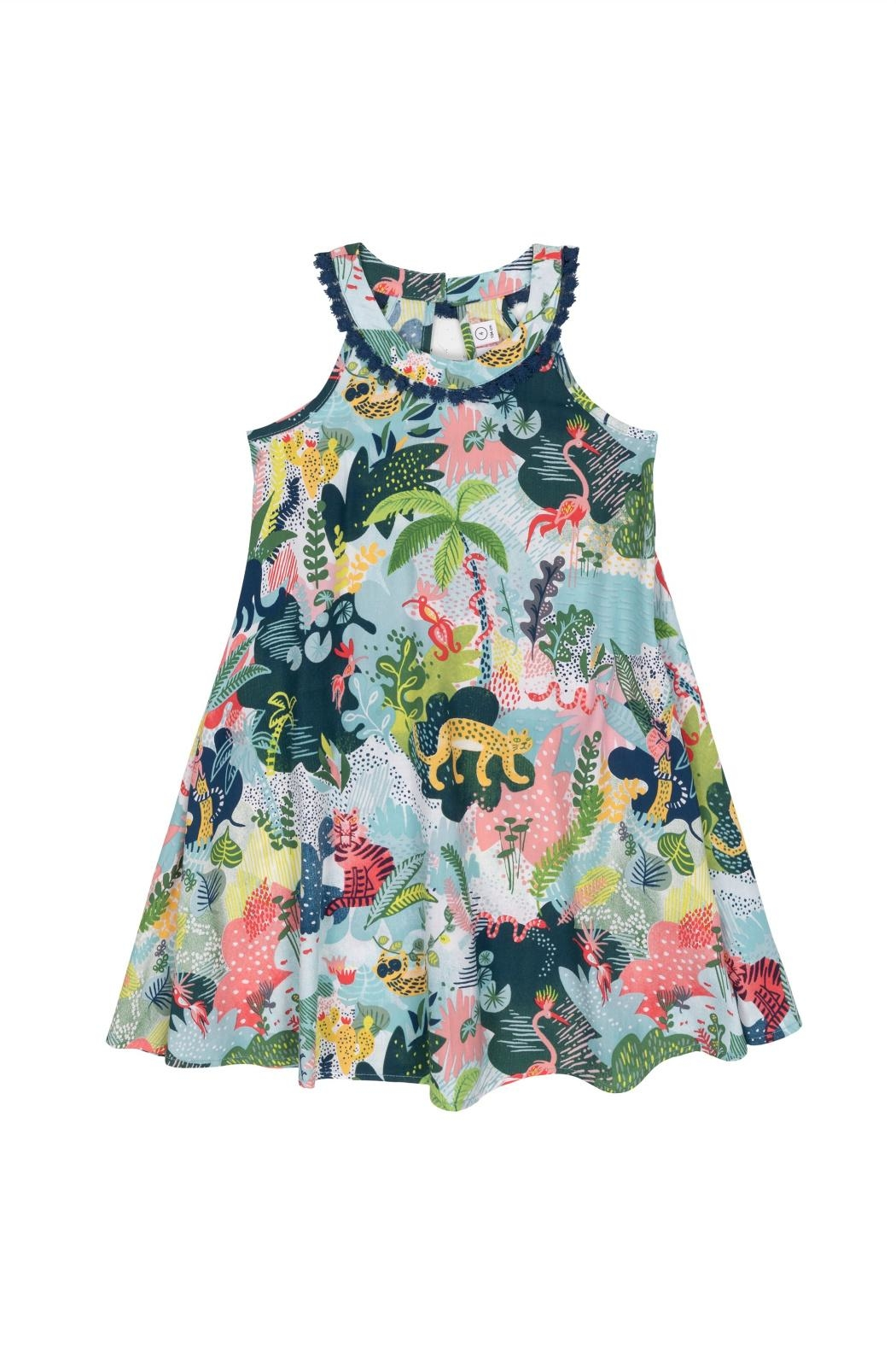 Deux Par Deux Wild Print Dress - Main Image