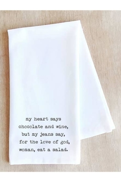 Devenie Designs Chocolate Wine Towel - Product List Image