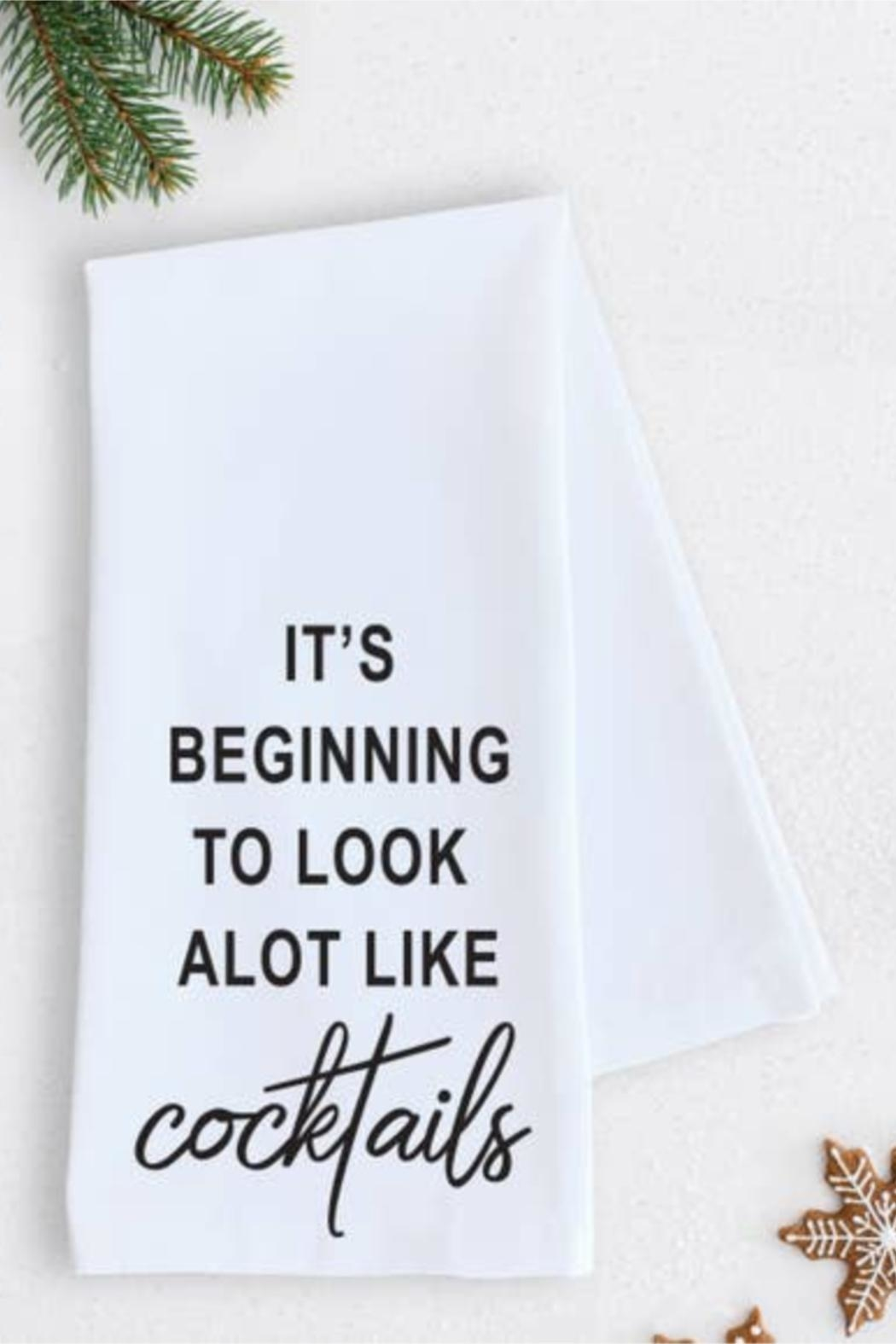 Devenie Designs Cocktails Tea Towel - Front Cropped Image