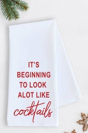 Devenie Designs Cocktails Tea Towel - Front cropped