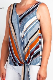 DeVia Side Tie Tank Top - Front cropped